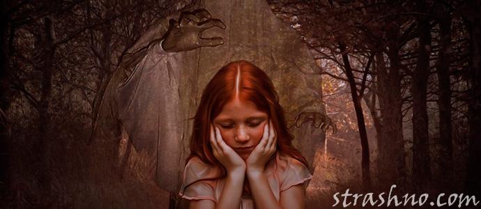 девочку испугала тень