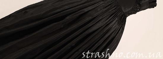 Мрачное черное платье
