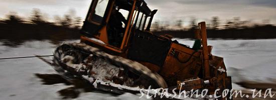 Утонувший трактор