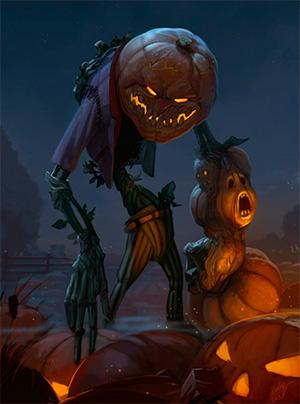 Жуткий персонаж с Хеллоуина
