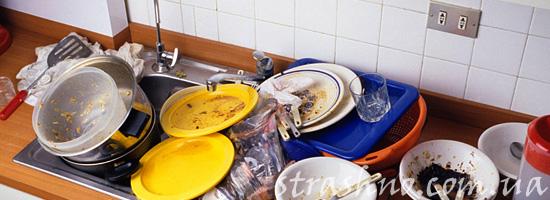 Домовой не любит немытую посуду