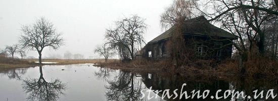 Дом ведьмы в заброшенной деревне