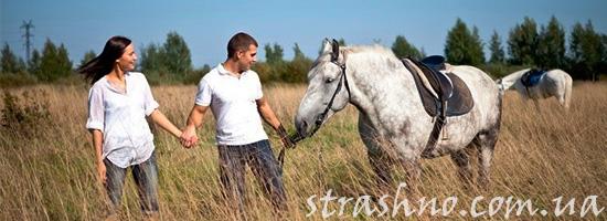 Как мы катались на лошадях и увидели лешего