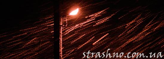 Жуткий гость под фонарем