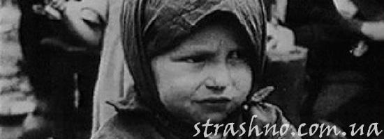 Девочка во время войны с фашистами