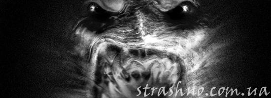 жуткий зубастый демон