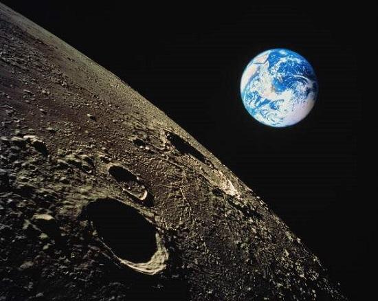 вид Земсли с Луны