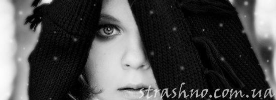 мистика девушка зимой