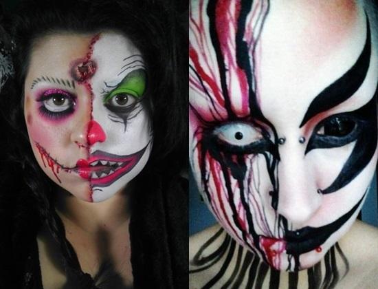 идеи макияжа на хэллоуин фото