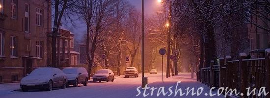 мистика темный зимний двор