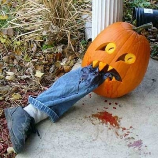 тыква пожирательница декор на халлоуин