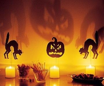 украшения дома на Хэллоуин