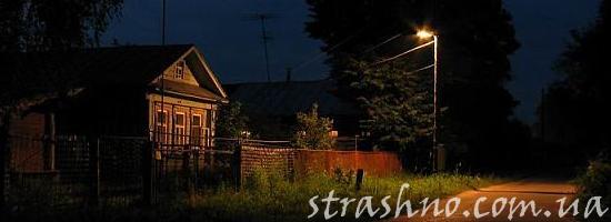 дача ночью