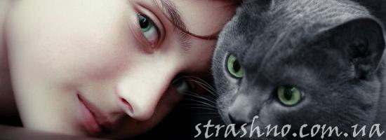 мистика похожие девочка с кошкой