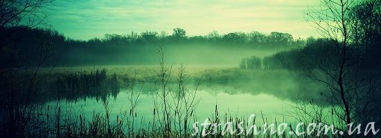 мистика озеро в тумане