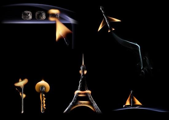 приключения в Париже из спичек