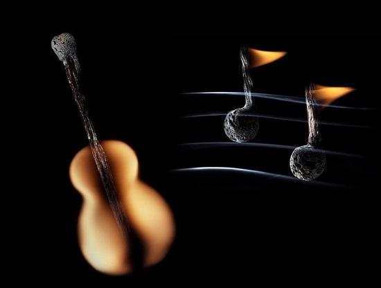 музыка из спичек