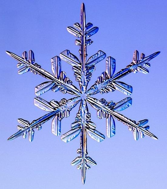 красивая снежинка