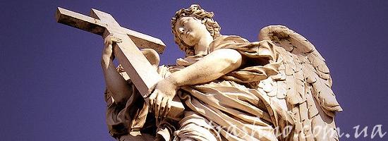 Статуя белого ангела