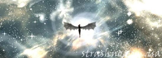 парящий демон в небе