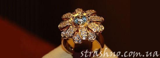 золотое кольцо-цветок
