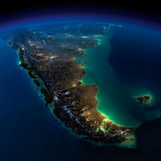 Чили и Аргентина из космоса
