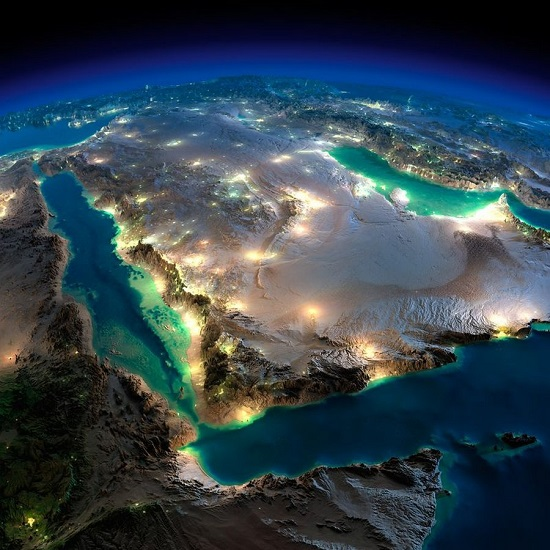 Красное море и Аравия из космоса
