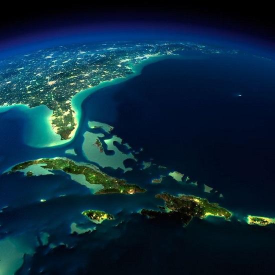 Бермудский треугольник из космоса