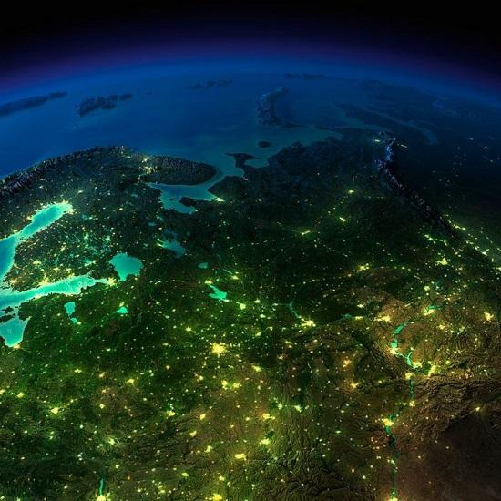Европа и Россия из космоса