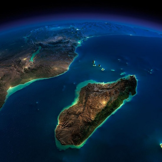 Мадагаскар из космоса