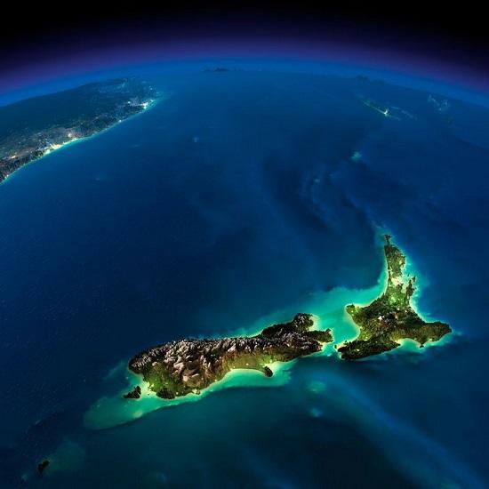 Новая Зеландия из космоса