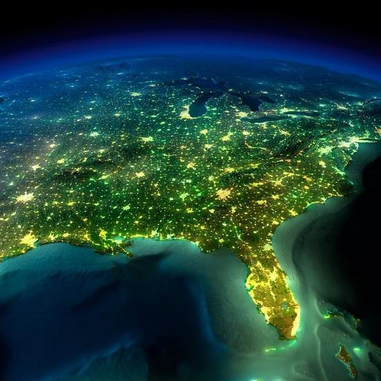Флорида из космоса