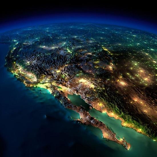 Мексика из космоса