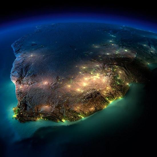 Южная Африка из космоса