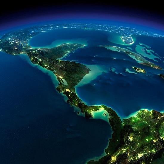 Центральная Америка из космоса