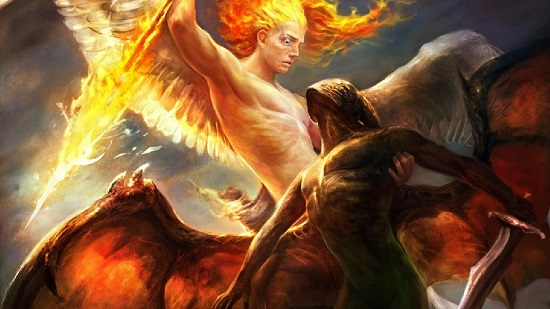 борьба ангела с демоном