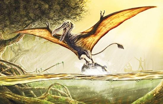 современный птерозавр конгамато