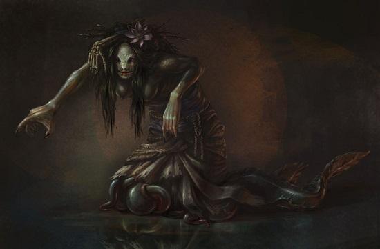 женщина змея нуре-онна