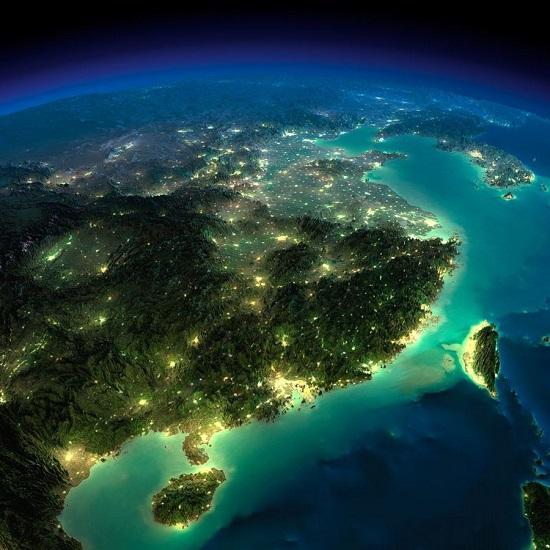 Китай и Тайвань из космоса