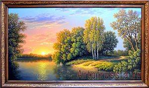 Река и деревья