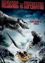плакат фильма Динокрок против динозавра