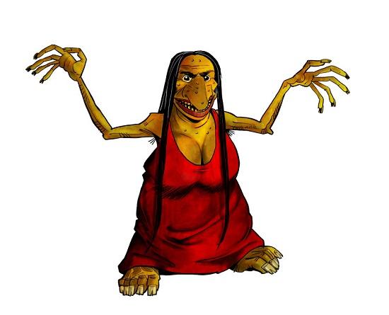 Уродливая лесная женщина Фиура