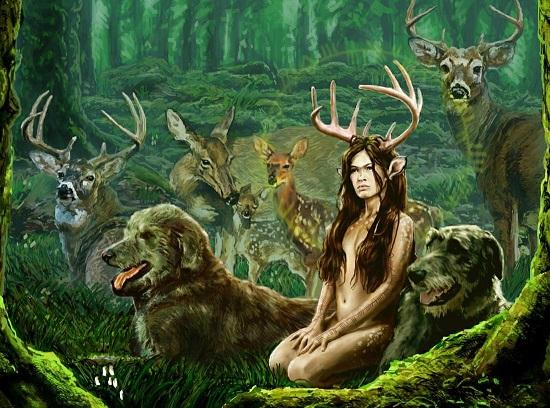 оборотень Женщина-олень