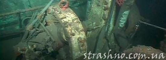 Часть затонувшего корабля