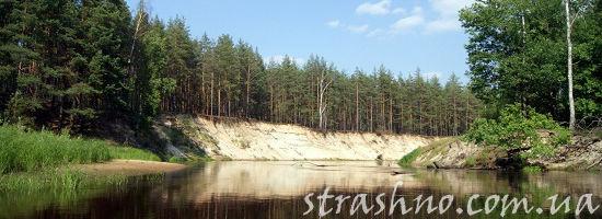 обрывистый берег Клязьмы