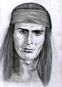 рисунок индееца Гойко Митич