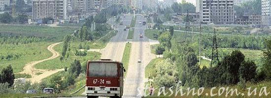 на автобусе в город