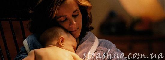 мать и дитя ночью