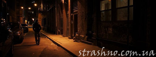 прохожий на ночной улице