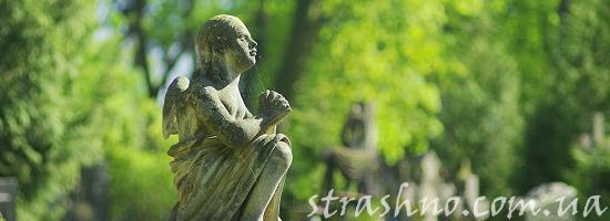 ангел на кладбище